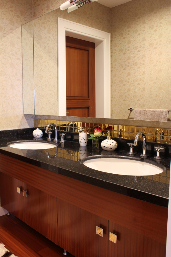 Choosing the Right Bathroom Cabinetsinterior, countertop with white ceramic sink